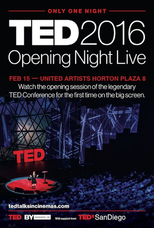 TED Talks in Cinema Poster 2016