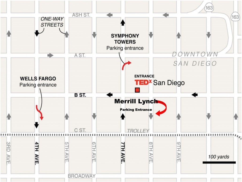 TEDxSanDiego 2015 Parking Map