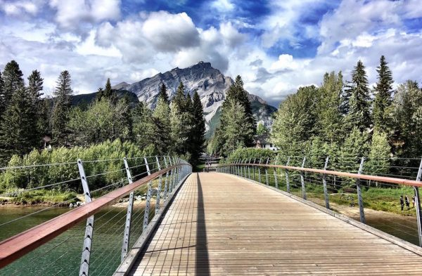 Bridge Across River in Banff