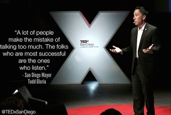 Todd Gloria Onstage at TEDxSanDiego 2013