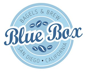 Blue Box Bagels and Brew Logo at TEDxSanDiego